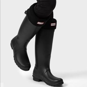 Hunter Boots original tall black socks